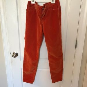 Banana Republic orange corduroy pants, long fit